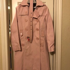 Marc Jacobs pink trenchcoat, like new!